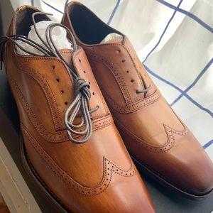NEW Johnston & Murphy Cormac Wingtip Lace-Up Shoe